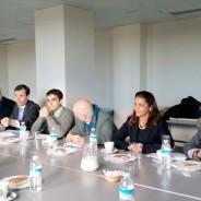 Mesa de trabajo con el PSOE